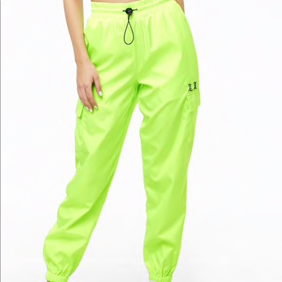 10e36ef10f196 neon green cargo joggers